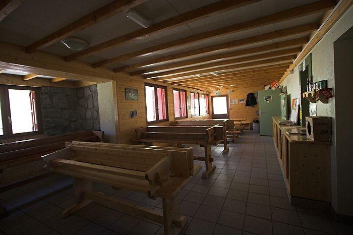 Intérieur du refuges des Oulettes de Gaube