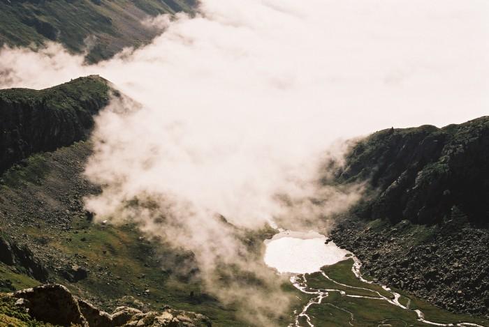 Le lac de Cestrède depuis le pic du lac noir