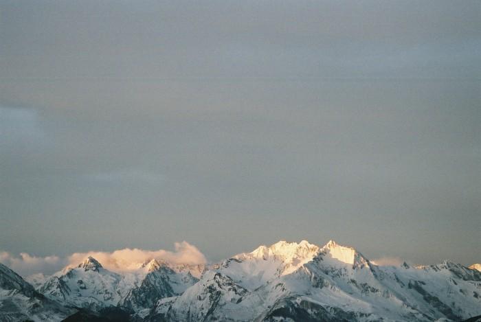 Depuis Lias : le Grand Gabizos, le petit, le Grand Arroubert, Le Pic Arrouy ...