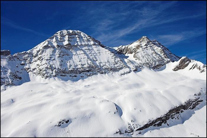 Randonnée en raquettes à neige aux pic de Tentes et pic de la Pahule