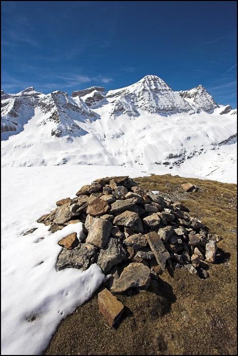 Cairn au sommet du pic de la Pahule