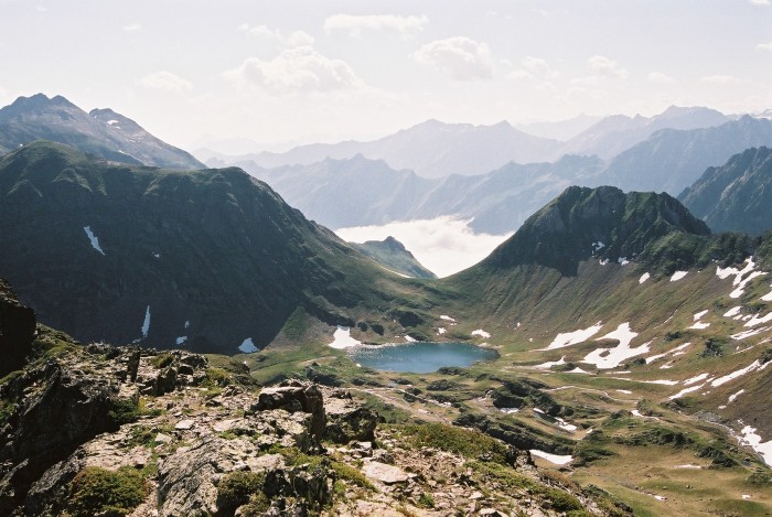 Lac du Lavedan et col d'Uzious
