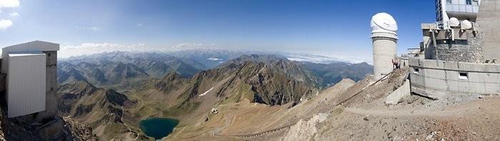 Panoramique au pic du Midi de Bigorre