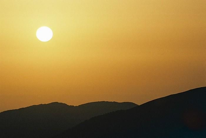 Lever de soleil sur la hourquette d'Ouscouaou