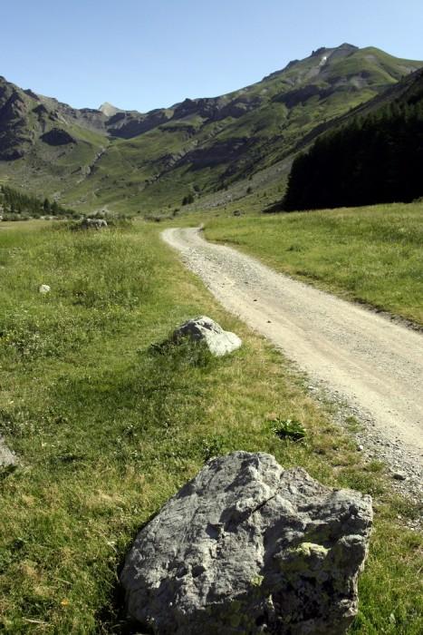 Début de randonnée en direction du Lac de l'Eychauda