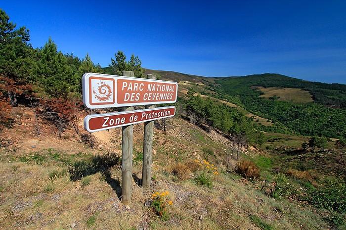 Les panneaux du parc national des Cevennes