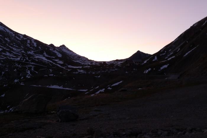 Coucher de soleil au Col du Galibier