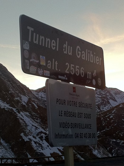 Tunnel du Galibier le soir