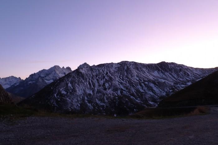 Coucher de soleil depuis le Col du Galibier