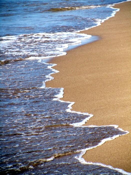 La mer à Portiragnes, dans l'Héraut