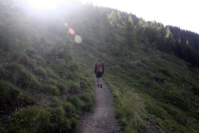 Départ de la randonnée au Lac de Souliers