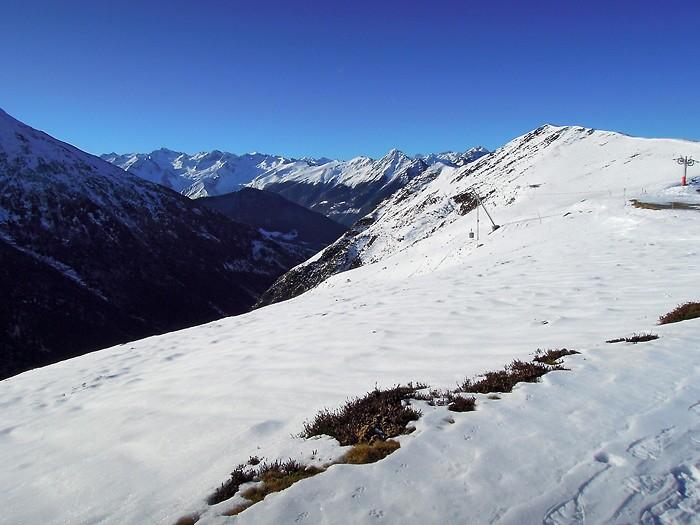 Hautacam: les Pyrénées sous la neige