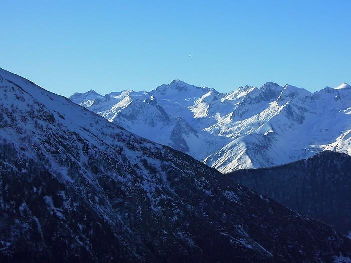 Vue depuis Hautacam dans les Pyrénées