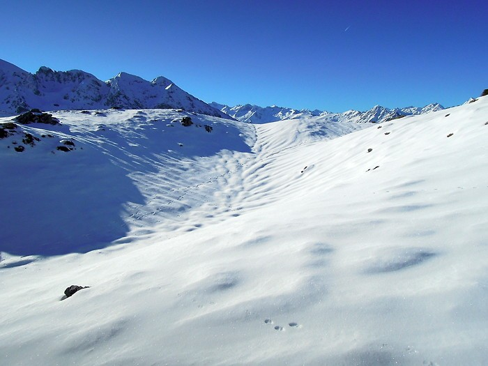 La neige à Hautacam, dans les Pyrénées