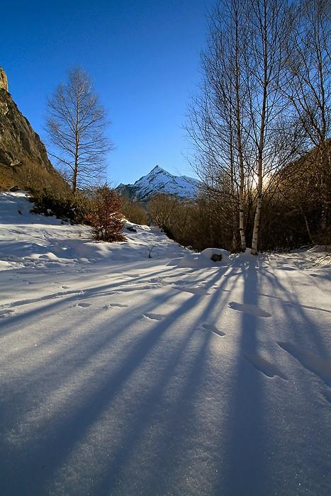 Balade dans la neige au dessus de Gavarnie