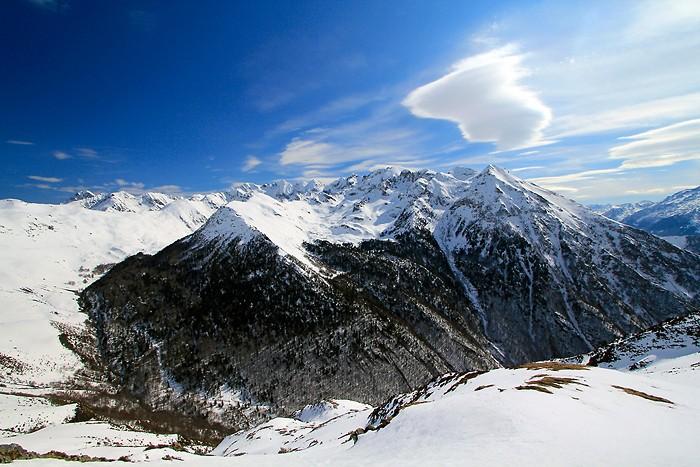 Balade dans la neige à Hautacam