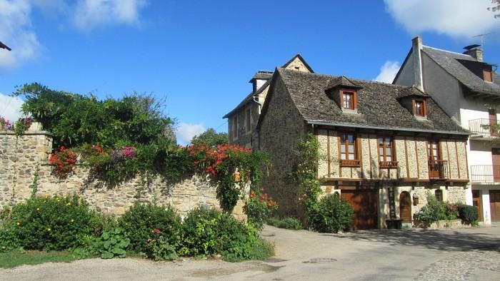 Village de Sainte Eulalie d'Olt en Aveyron