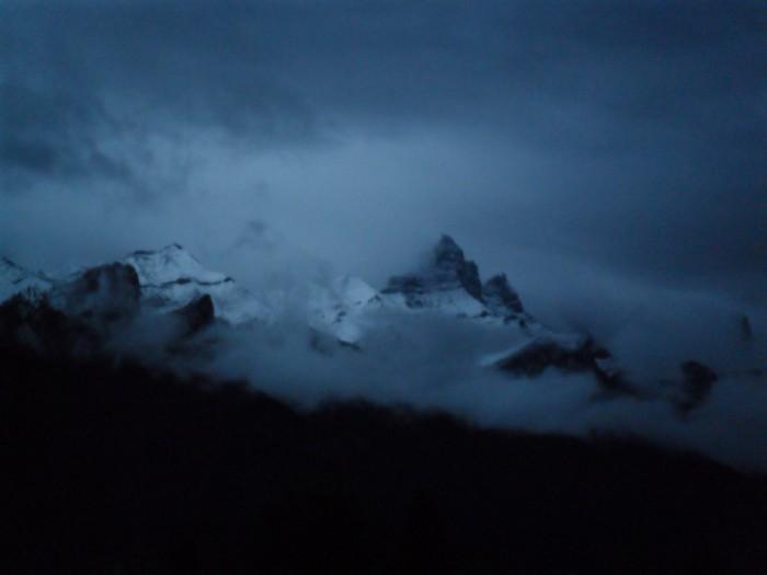 Fin de journée sur le mont Fairview dans les Rocheuses