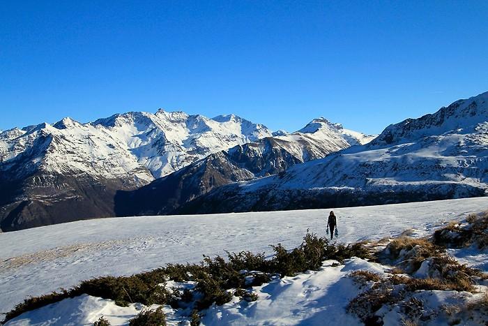 Randonnée en raquettes à neige dans les Pyrénées