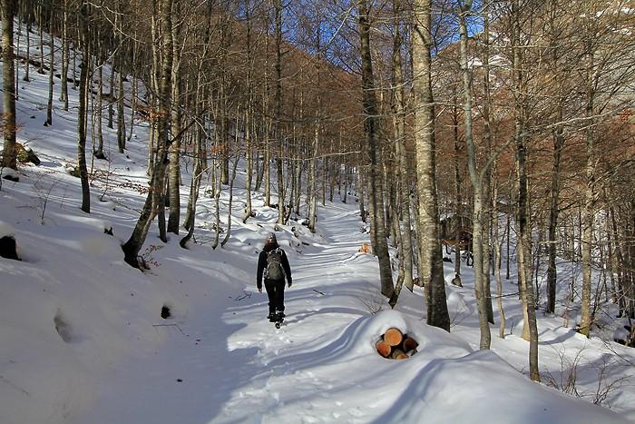 Randonnée dans la neige à côté de Gavarnie
