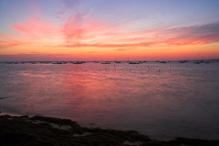 Lever du soleil au Canon en Gironde