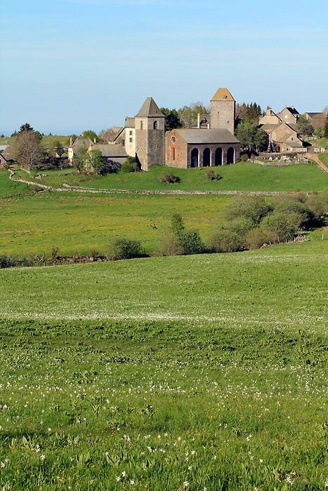 Village d'Aubrac juste avant la transhumance