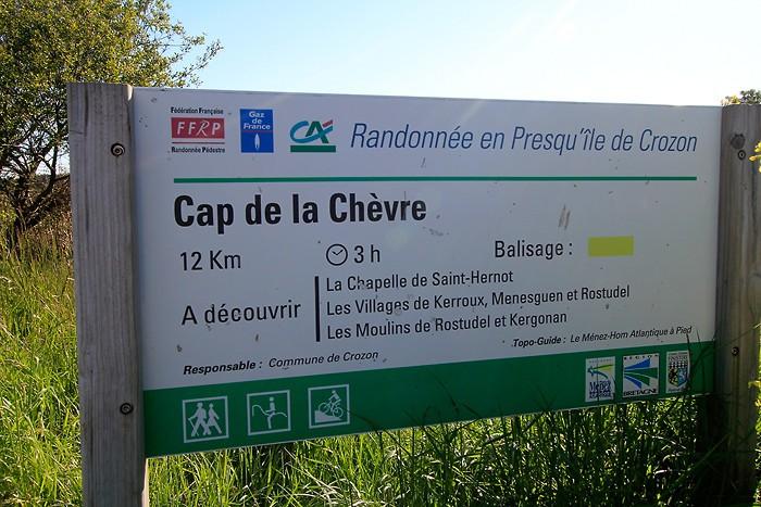Circuit du Cap de la Chèvre dans le Finistère