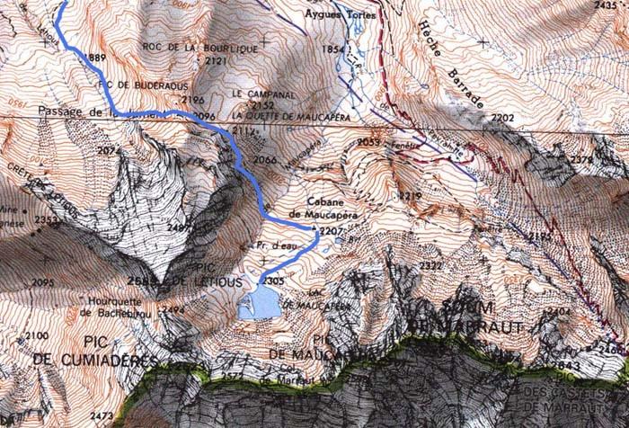 boucle de Maucapéra - Passage de la Jument