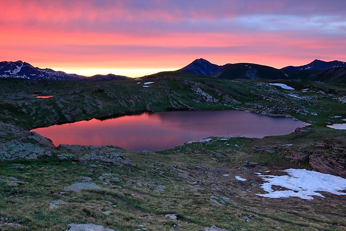 Lac Noir au coucher du soleil