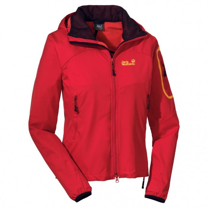 Veste Softshell Jack Wolfskin Impulse Jacket Femme rouge