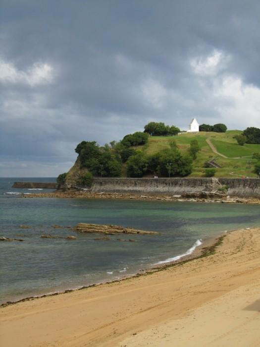 Depuis la plage de Saint Jean de Luz, une éclaircie