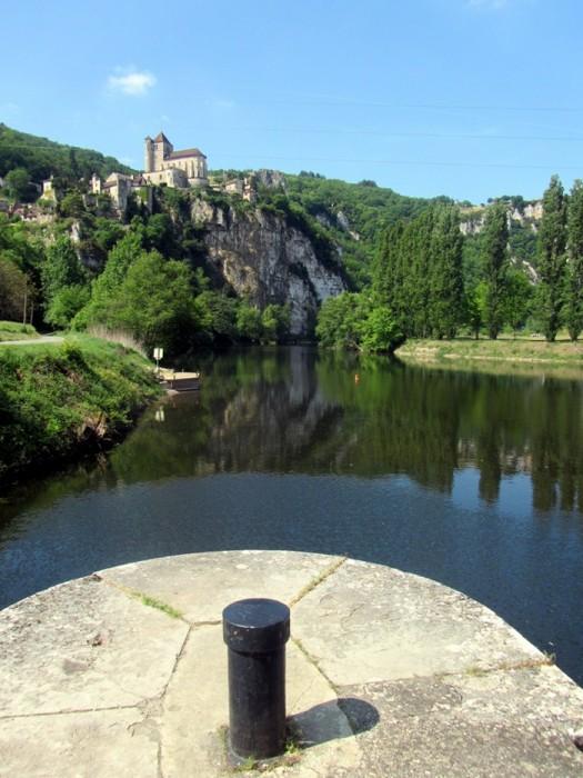 Dans le Lot : Saint Cirq Lapopie