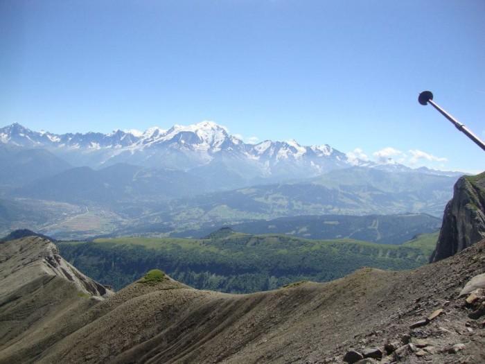 Massif du Mt Blanc depuis la grande Forclaz