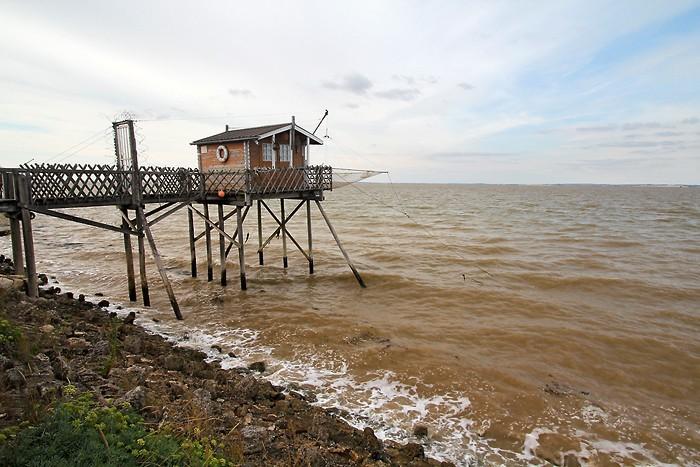 Carrelet sur l'estuaire de la Gironde