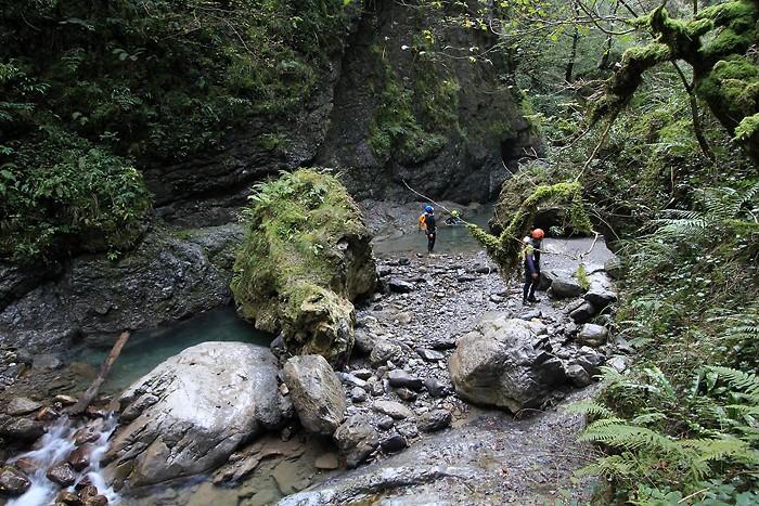 Canyoning dans les gorges de Kakuetta