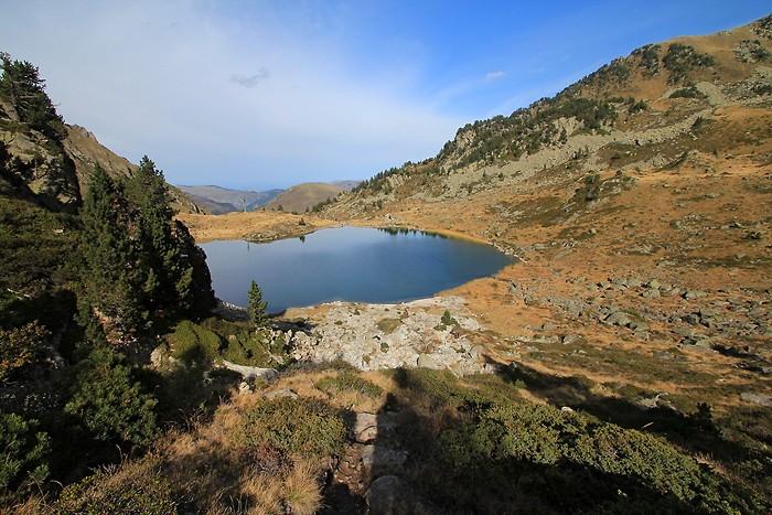 Passage au lac de Caderolles