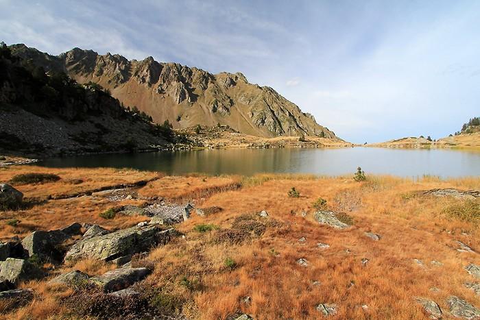Au bord du lac de Caderolle
