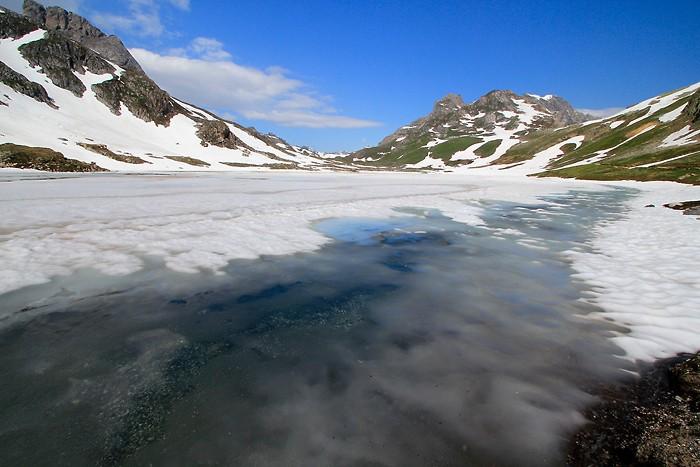 Lac Rond sous la neige