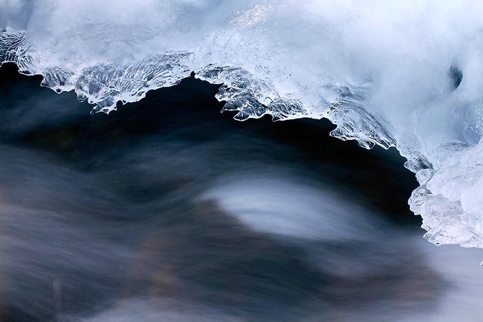 Sculpture de glace dans les Pyrénées