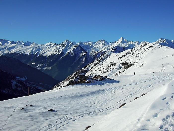 Hautacam en raquettes à neige, les Pyrénées c'est si beau