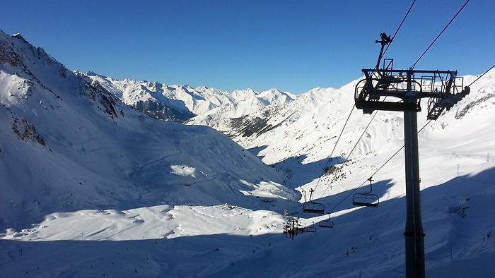 Panorama sur la station de ski de Barèges