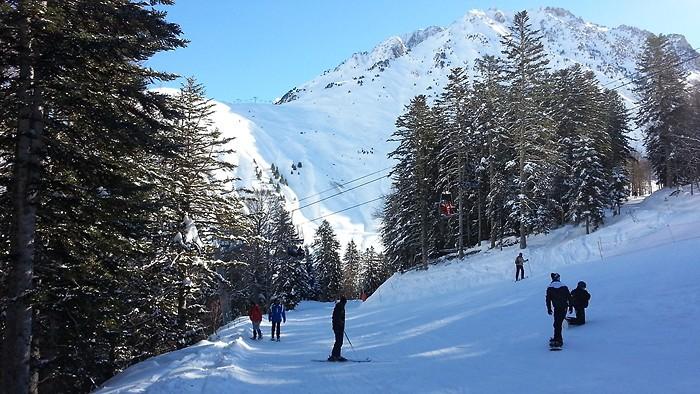 Ski sur la station de Barèges-La Mongie