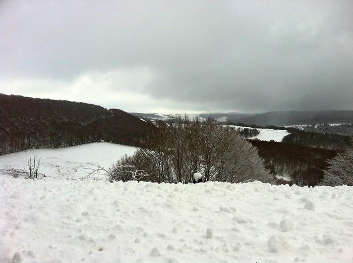 Le plateau de l'Aubrac sous son manteau de neige