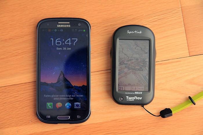 Comparatif Twonav Sportiva 2 avec Galaxy S3