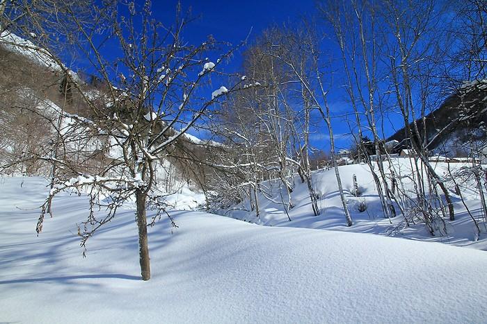 Balade dans la neige à Barèges