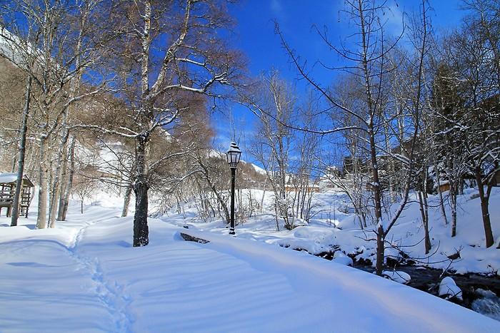 Randonnée dans la neige à Barèges