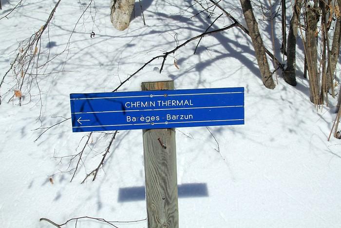 Nous sommes sur le chemin thermal à Barèges