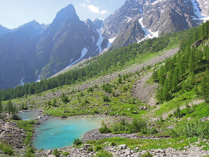 Lac de la Douche, Alpes, randonnée au lac du Glacier d'Arsine