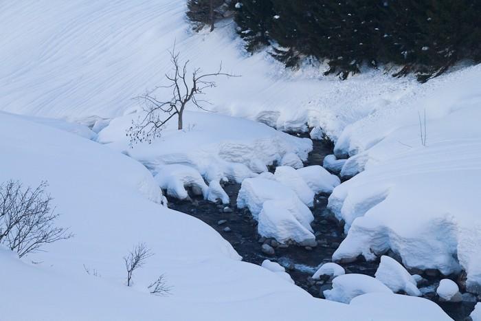 La neige est tombée en abondance