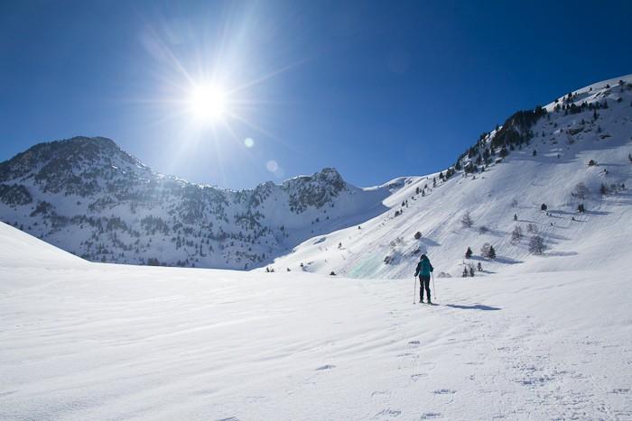 Le soleil brille sur les Pyrénées